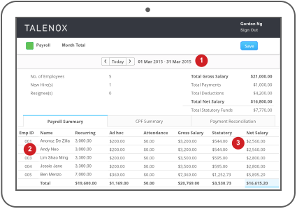 Talenox and Xero Payroll compatibility - screenshot 1