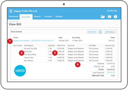 Talenox and Xero Payroll compatibility - screenshot 2